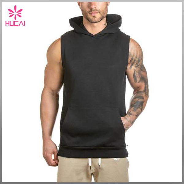 Blank Hoodies Wholesale Gym Sleeveless Hoodie/hoodies Of Fitness .