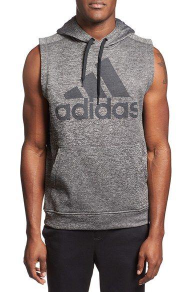 adidas Sleeveless Training Hoodie | Hoodies, Sleeveless hoodie men .