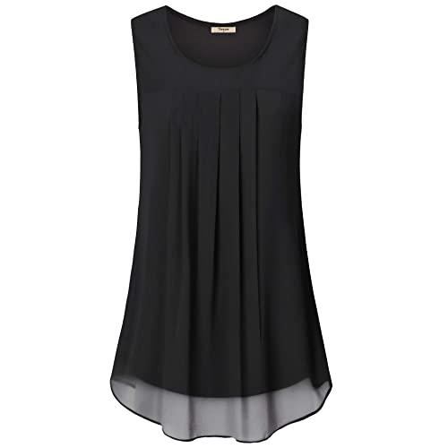 Women's Black Sleeveless Tops: Amazon.c