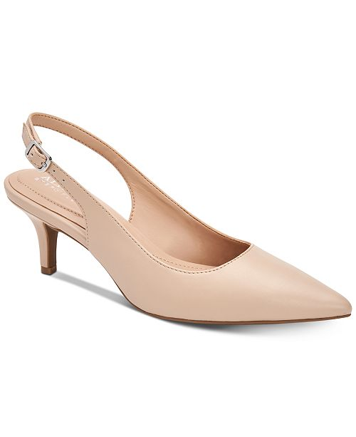 Alfani Women's Step 'N Flex Babbsy Pointed-Toe Slingback Pumps .
