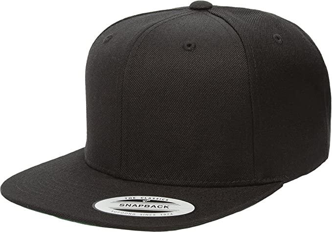 Amazon.com: Yupoong Wool Blend Prostyle Snapback Cap - Black .