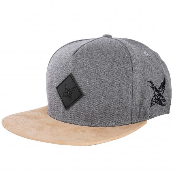 Port Venice Snapback Cap - Grey-Suede - Blackskies Online Shop .