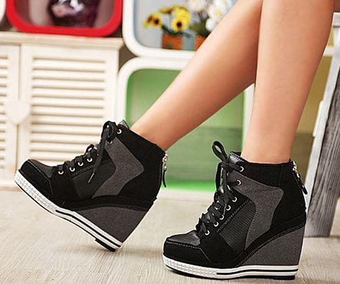 high heel wedge sneakers | ... sneaker platform high heels shoes .