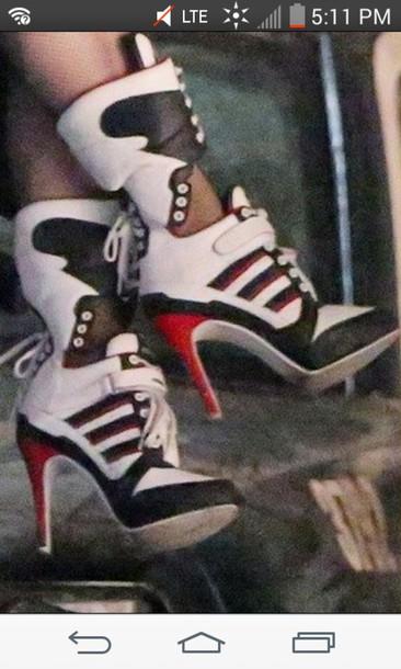 shoes, harley quinn, sneakers, sneakers, sneaker heels, lace up .
