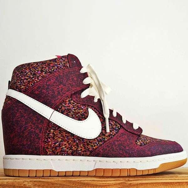 Pixelated Sneaker Heels : Nike Dunk Sky