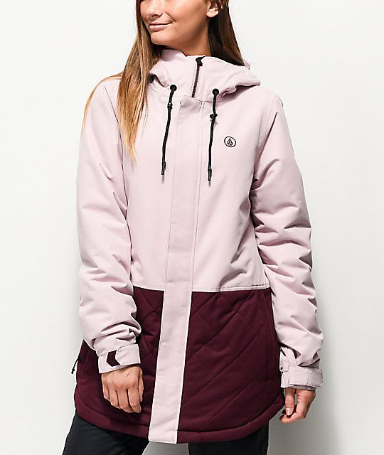 Volcom Winrose Rose 10K Snowboard Jacket in 2020 | Jackets, Best .
