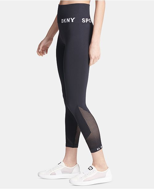 DKNY Sport High-Waist Seamless Ankle Leggings & Reviews - Pants .