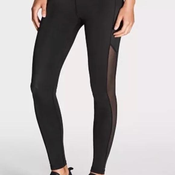 Victoria's Secret Pants | Victoria Sport Leggings With Mesh Size .