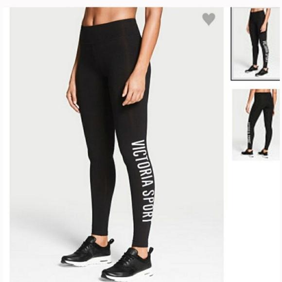 Victoria's Secret Pants | Vs Victoria Sport Black And Silver .