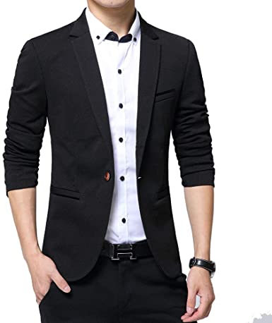 Amazon.com: KIMILILY Sports Jacket for Men Slim Fit One Button .