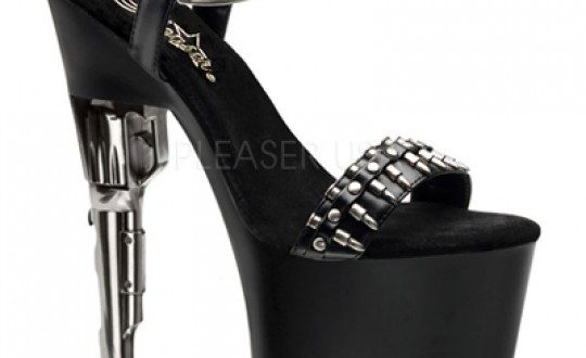 Black Bullet Platform Gun Heels Heel Shoes online store sales .