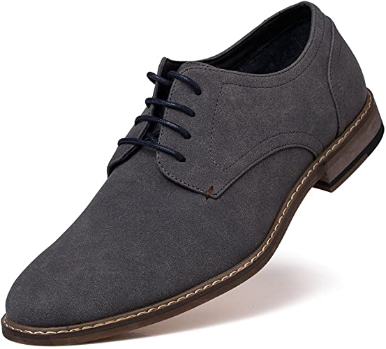 Amazon.com | Jivana Men's Suede Oxford Dress Shoes Lace Up | Oxfor
