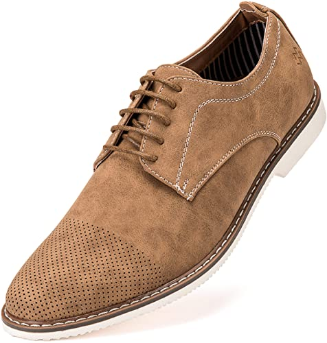 Amazon.com | Mens Casual Shoes, Suede Oxford Business Dress Shoes .