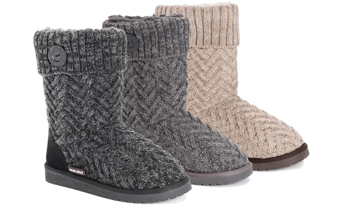 Up To 61% Off on Muk Luks Women's Sweater Boots | Groupon Goo