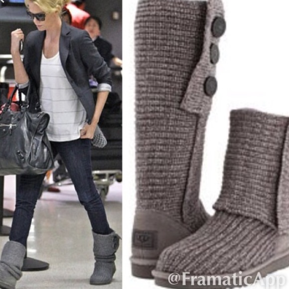 UGG Shoes | Tall Cardy Sweater Boots 1 Day Special Firm | Poshma