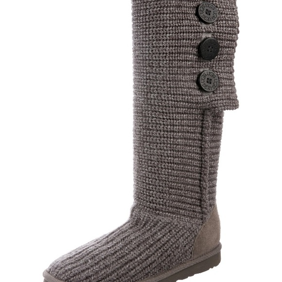 UGG Shoes | Sweater Boots 8 Cardy Grey | Poshma