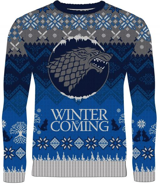 Game Of Thrones: Winter Is Coming Stark Knitted Christmas Sweat