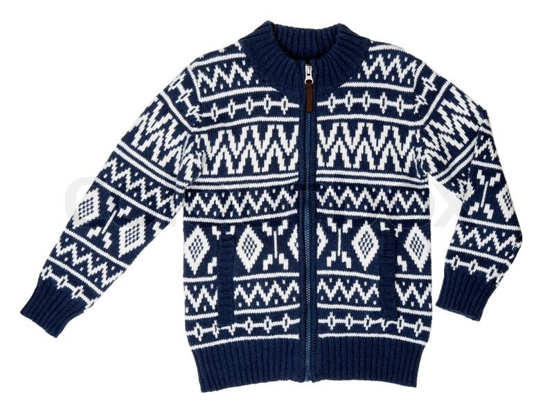 A winter sweater with a pattern on a ...   Stock image   Colourb