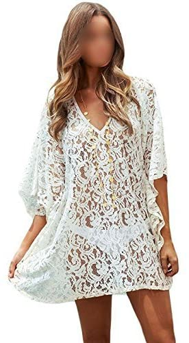 Amazon.com: Summer Style Swimsuit Coverups Womens Sexy White Lace .