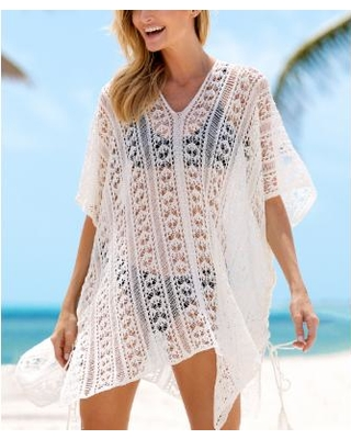 The Best Sales for HAPARI Women's Swimsuit Coverups White - White .