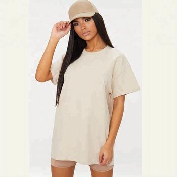 Custom Apparel Oversized Boyfriend T Shirt Women Crew Neck Tee .