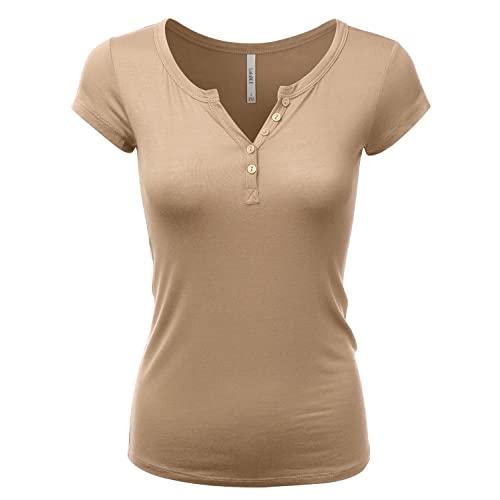Khaki Women's Shirt: Amazon.c