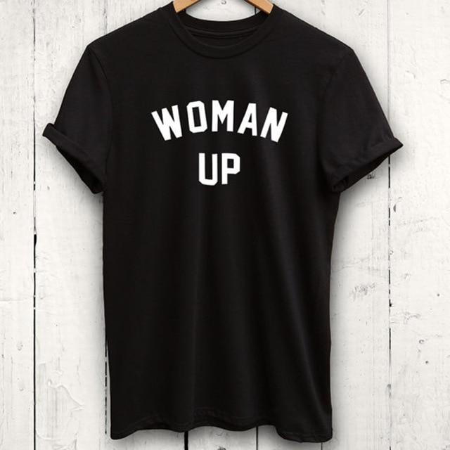 EnjoytheSpirit Woman Up T Shirt Feminist Tshirt Funny Workout .