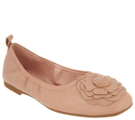 Taryn Rose Ballet Flats w/ Rose Detail - Rosalyn - Page 1 — QVC.c