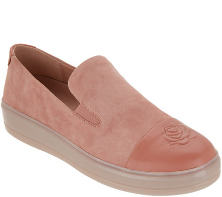 Taryn Rose Suede Cap-Toe Slip-On Shoes - Grace - Page 1 — QVC.c