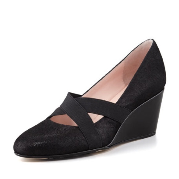 Taryn Rose Shoes | New Kimber Black Wedge | Poshma