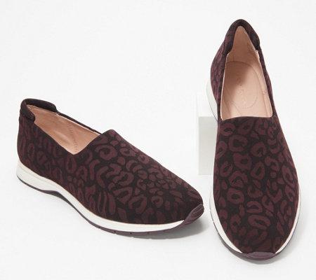 Taryn Rose Leopard_Print Slip On Shoes - Briella — QVC.c