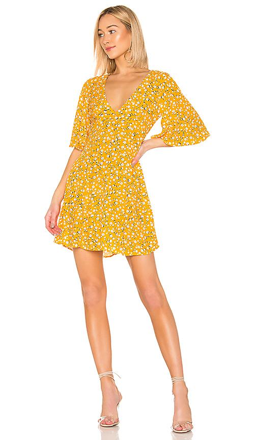 MINKPINK Summer Daisy Tea Dress in Golden Yellow | REVOL
