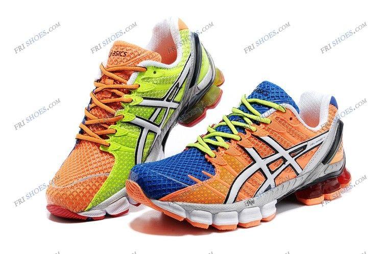 Asics Gel Kinsei 4 Blue/Orange Mens Sports Running Shoes asics .