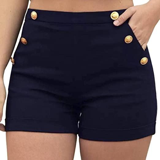 Amazon.com: Women Shorts,Women Casual Plus Size Zipper Elastic .