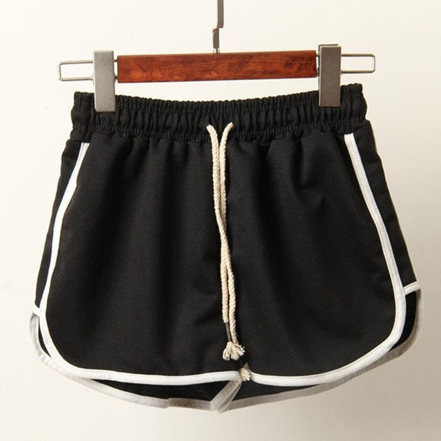 Fitness black shorts women summer shorts Beach mini short women .