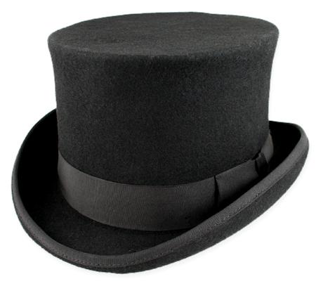 Deluxe John Bull Top Hat - Bla