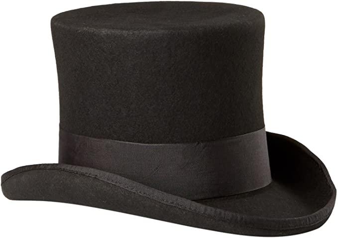 Scala Men's Wool Felt Top Hat at Amazon Men's Clothing sto