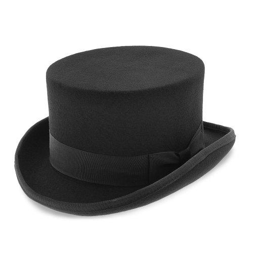 Deadman Walrus Hats Wool Felt 4.5 in. Height Low Crown Top H