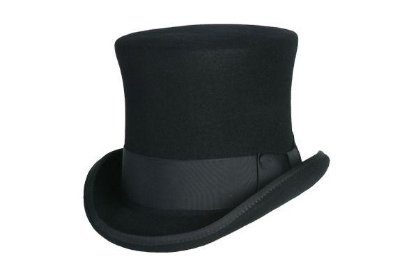 black squire hat, black top hat, black tall hat, victorian hat .