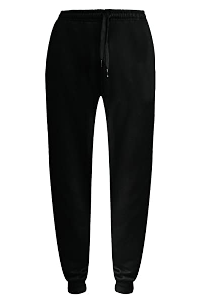 HNL Projection Mens Plain Jogging Bottoms Sports Trousers Fleece .