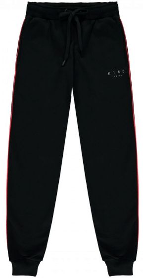KING APPAREL - Tennyson Black/red Tracksuit Bottoms – Energy .