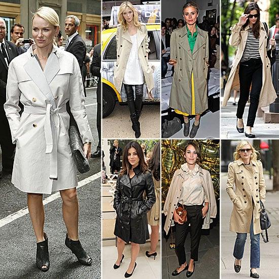 Celebrities Wearing Trench Coats For Fall 2011 | POPSUGAR Fashi