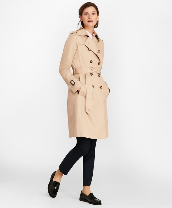 Double-Breasted Trench Coat - Brooks Brothe
