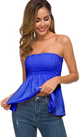 Tube Tops for Women Comfy Cotton Strapless Top at Amazon Women's .