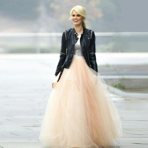 Ktoo Dresses | Full Of Grace Off White Tulle Skirt Maxi Skirt M .