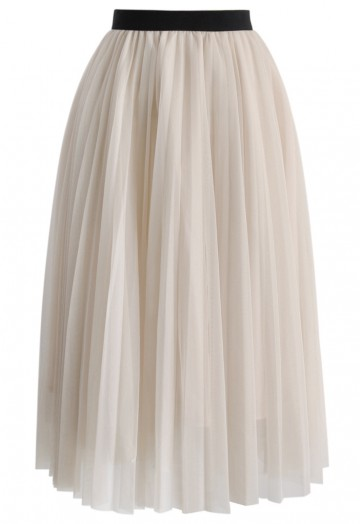 Dreamy Mesh Pleats Tulle Skirt - Retro, Indie and Unique Fashi