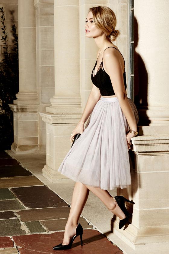 Cute Grey Skirt - Tulle Skirt - Ballerina Skirt - $65.