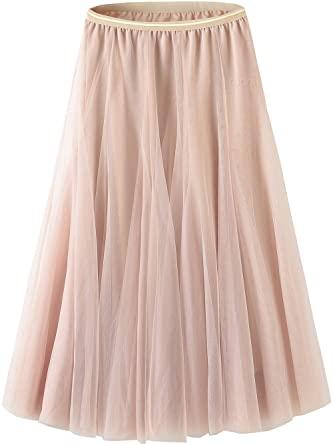 Tulle Skirt for Women Skirts Midi Length Tulle Skirt A-Line Knee .