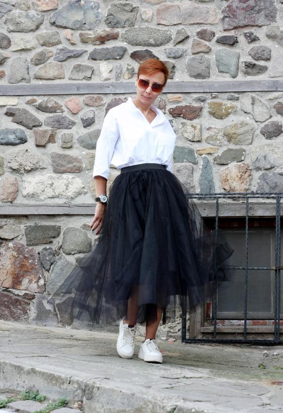 Skirts for women Black skirt Full skirt Tulle skirt Circle | Et