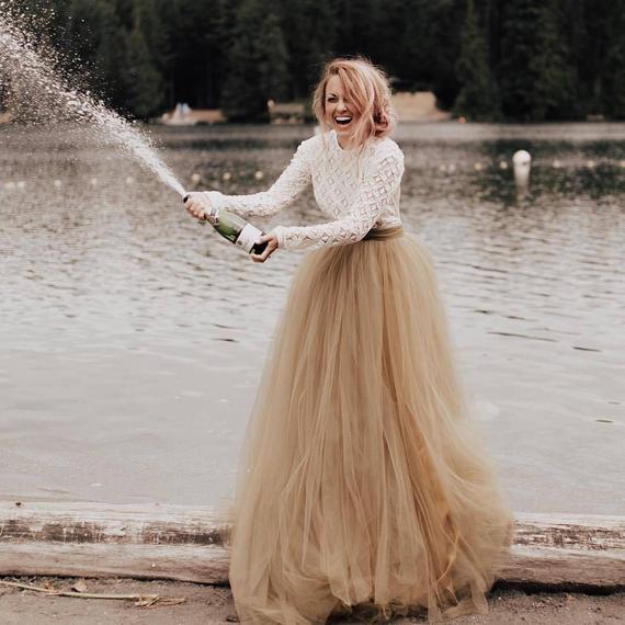 Norma J. Skirt 10 Train Tulle Skirt Tulle Wedding | Et